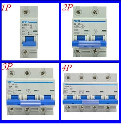 Chint high power air switch air switch DZ158 1P 2P 3P 4P 63A 80A 100A 125A easypact cvs160b ma 3p lv516430 3p 100a lv516431 3p 150a