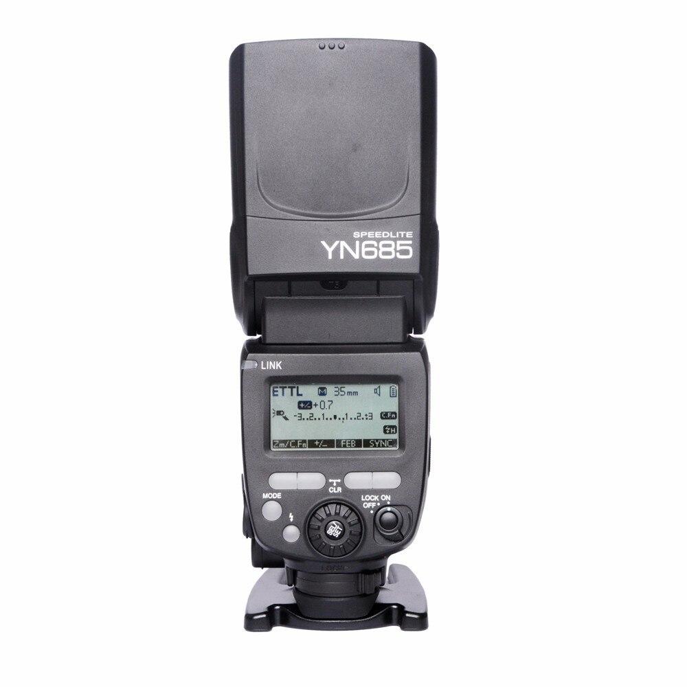 Prix pour NOUVEAU YONGNUO YN685 Flash Speedlite 2.4G Sans Fil HSS 1/8000 s Radio Slave Mode pour Canon soutien YN662C YN560-TX RF605 RF603 II