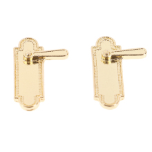 2Pcs 1/12 Scale Alloy Vintage Dollhouse Miniature Door Mini Pull Handles Locks Keys Dolls House Furniture Accessories Kids Toys