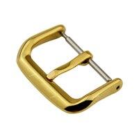 нержавеющая сталь серебристый ремешок, черный золотая роза золотые часы развертывание группа булавки застежка пряжки ремня 10 12 14 16 18 20 22 24 мм