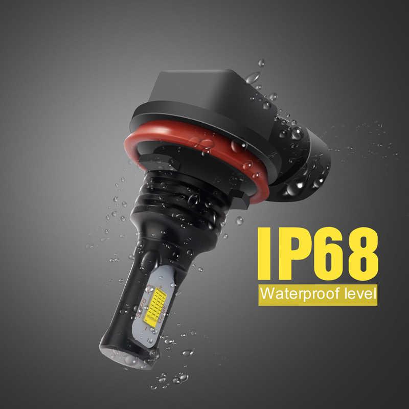 Katur 2pcs No Error 72W Led Fog Lamps H1 H3 H7 H11 9006 Led Auto Driving Lights Canbus Fog Lights For Honda 3000K Gold , White