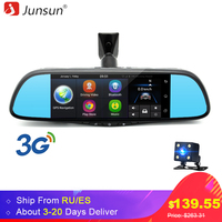 Junsun 7 Touch Special Car DVR Camera Mirror GPS Bluetooth 16GB Android 4 4 Dual Lens