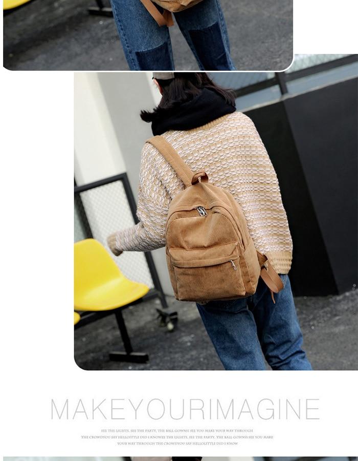 HTB199FYM4YaK1RjSZFnq6y80pXan 2019 New Corduroy Women Backpack Pure Color Women Travel Bag Fashion Double Backpack Female Mochila Bagpack Pack Design