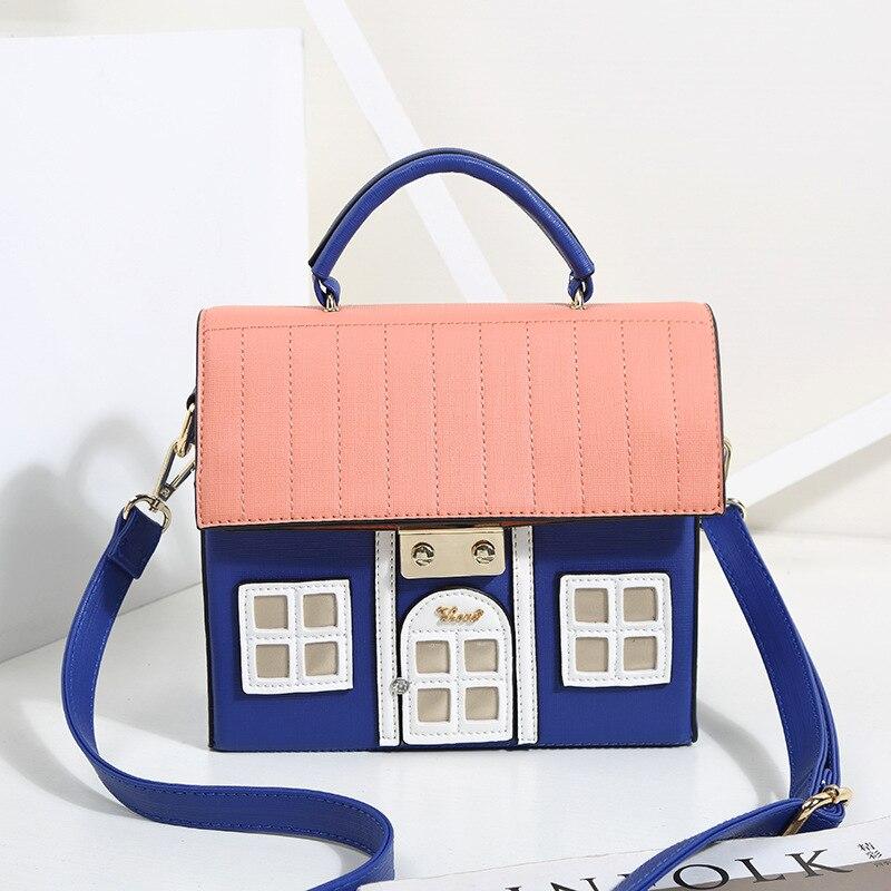Bracci Mew PU fun sac à bandoulière unique en forme de maison sac à main pour femme lolita nouveauté sac de messager à fermeture créative - 3