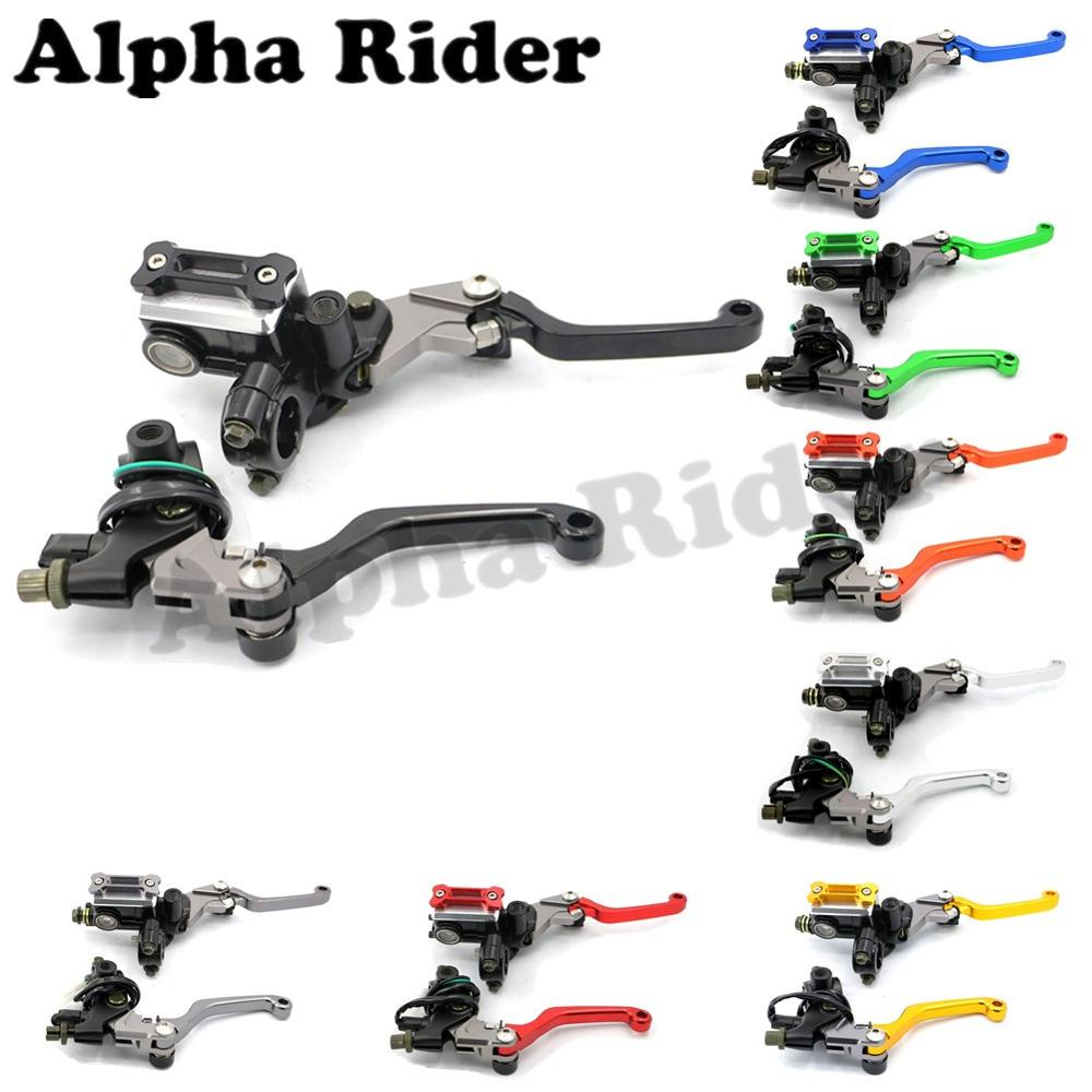 Motorcycle 7/8 22MM Cable Clutch Brake Master Cylinder Oil Fluid Reservoir Levers for Honda CR CRF 80/85/125/250/450 Dirt Bikes universal motorcycle brake fluid reservoir clutch tank oil fluid cup for mt 09 grips yamaha fz1 kawasaki z1000 honda steed bone