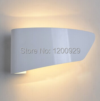 Flag Wall Lamp LED for Bedroom/Dining room/Doorway Free Shipping Black/White WLL-34 1 piece free shipping anodizing aluminium amplifiers black wall mounted distribution case 80x234x250mm