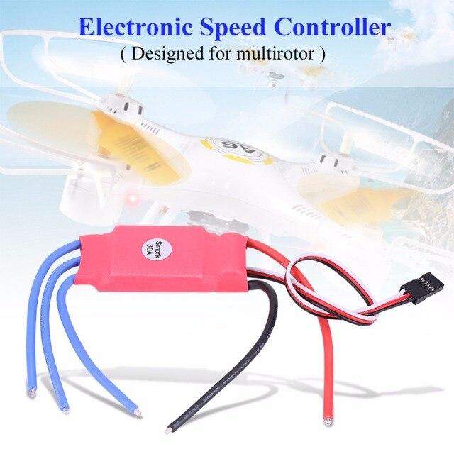 Simonje 30A sin escobillas ESC controlador electrónico de velocidad ESC para cuadricóptero Drone RC control electrónico de velocidad para RC multicóptero