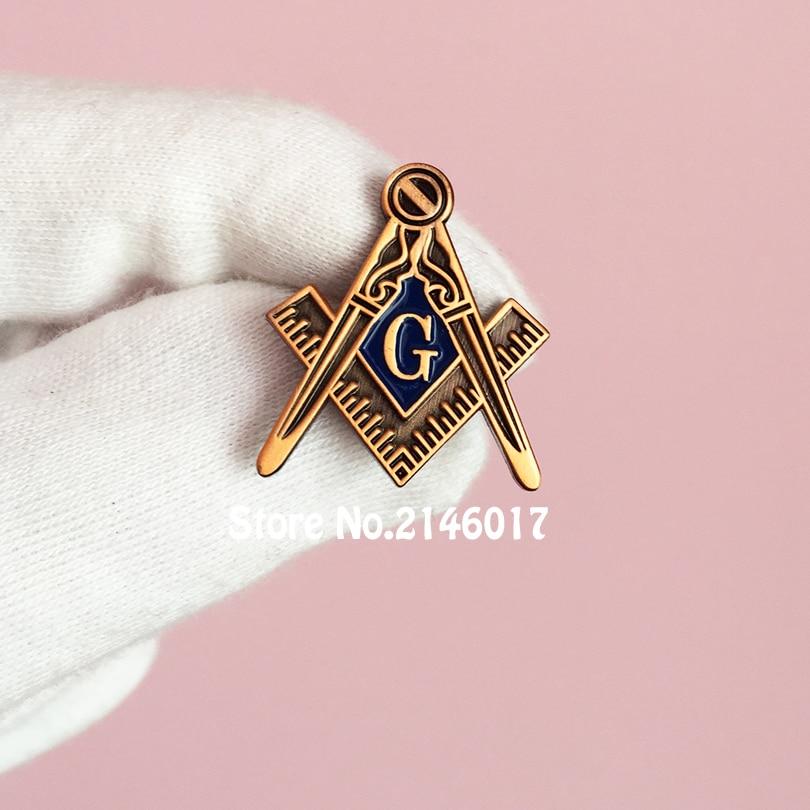 Masons Brooch Souvenir Gift Metal Craft Custom Pins Freemasonry Square &  Compasses G Masonic Freemason Lapel Pin Badge