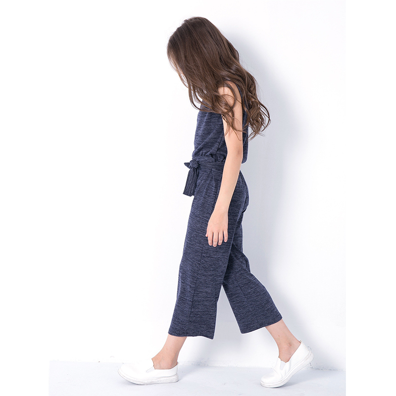 9329490fc0a 2018 Girls Summer Set Leisure Vest Tops Cropped Pants Large Children Casual  Sleeveless Tee Shirt Clothing Set Outfit for Teens-in Clothing Sets from  Mother ...