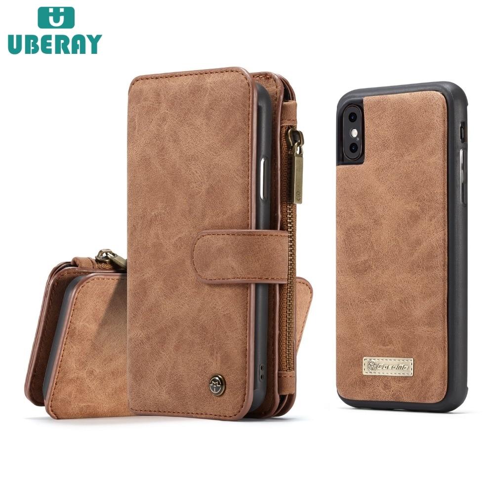 Оригинальный кожаный чехол для iphone 6S, чехол для iphone 7, роскошный модный кошелек, чехол для мужчин, деловой чехол для iphone X 8
