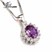 Jewelrypalace Princess Diana William Middleton's three.2ct Created Alexandrite Sapphire Pendant 925 Sterling Silver With no Chain