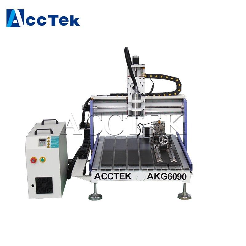AKG6090 3 axis 4 axis mimi cnc router AccTek 3d cnc machineAKG6090 3 axis 4 axis mimi cnc router AccTek 3d cnc machine