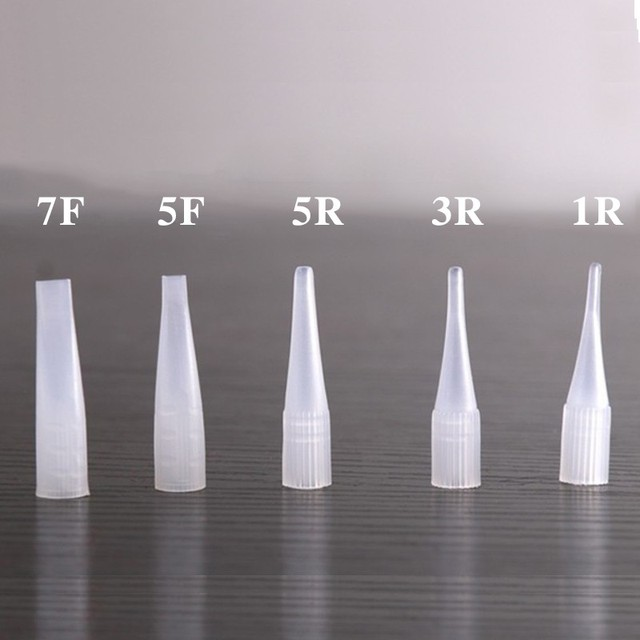 100pcs 1RL/3RL/5RL/5F/7F Sterilized Disposable Permanent Makeup Needles Tattoo Needles for Eyebrow Tattoo Makeup Kits 0.35X50MM 2