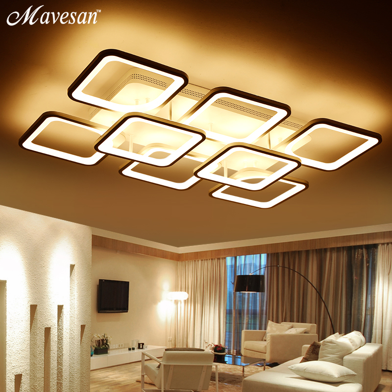 Remote Control Led Ceiling Lights For Living Room Restaurant Dimming