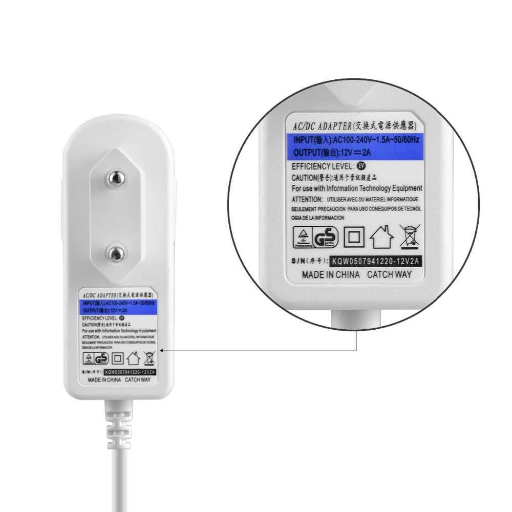 2A адаптер питания 110 V 220 V AC к DC 12 V зарядное устройство для камеры безопасности/DVR или светодиодной ленты освещения