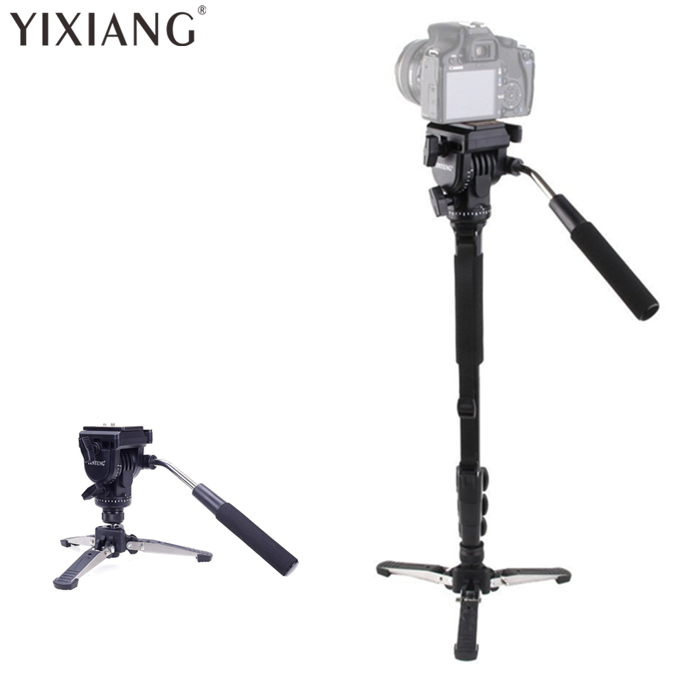 YIXIANG VCT-288 Photography Tripod Monopod WIth Fluid Pan Head Quick - Camera and Photo