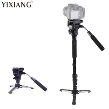 YIXIANG VCT-288 Photography Tripod Monopod WIth Fluid Pan Head Quick Release Plate And Unipod Holder for Canon Nikon DSLR Camera
