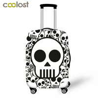 Skeleton Print Luggage Cover Cool Skull Suitcase Cover High Elastic Dust Protective Covers For 18 28