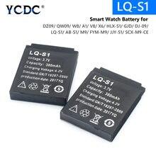 Batterie Li-ion rechargeable d'origine 3.7V 380MAH montre intelligente batterie de remplacement pour montre intelligente dz09 A1 V8 X6