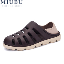 MIUBU Men Summer Hole Beach Sandals Casual Shoes Men EVA Slippers Breathable Rubber Sandals Slip-On Sandalias Zapatillas Hombre цена