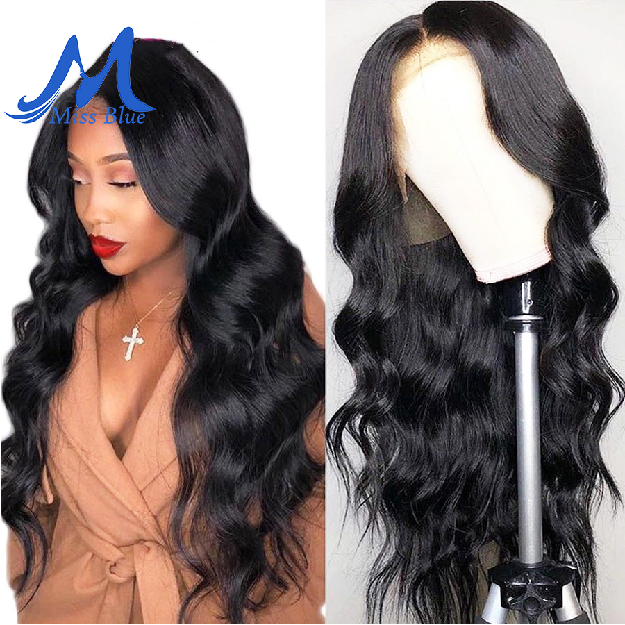 Missblue Brazilian Body Wave Full Lace Human Hair Wigs For Black Women Remy Lace Front Human Hair Wig With Baby Hair Frontal Wig