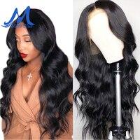 Missblue бразильские волнистые полностью кружевные человеческие волосы парики для черных женщин Remy кружевные передние человеческие волосы па