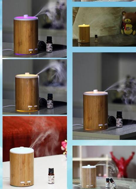 Ultrasonic Real Bamboo Oil Diffuser Bamboo Wind Aromatherapy