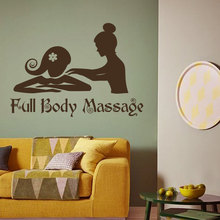 Body Massage Logo Beauty Salon Wall Sticker Spa Sign Poster Mural For Room Vinyl Art Removable Decals Stickers W144