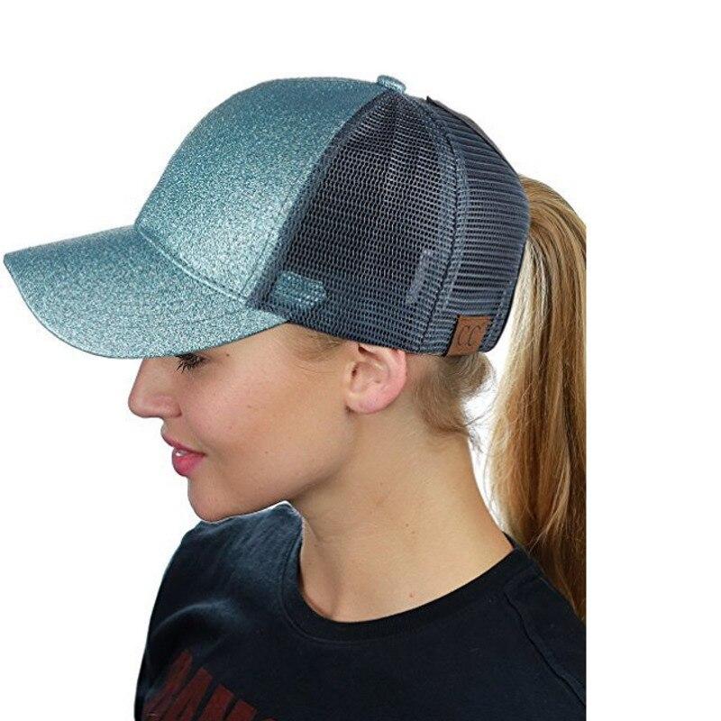 Hot Glitter Ponytail de béisbol de algodón Snapback equipado CC Cap - Accesorios para la ropa