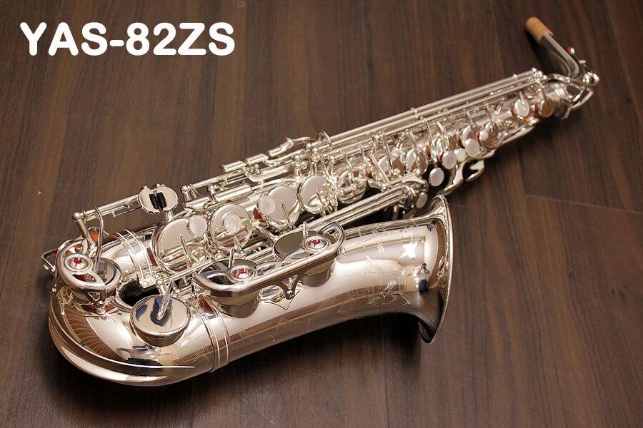 Japen Professional alto саксофон YAS 82ZS Eb Серебряный alto saxofone Топ музыкальный инструмент Sax плоский Чехол мундштук аксессуары