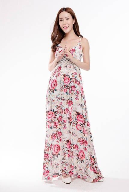 535dc6902445bb placeholder AliExpress Hot European sleeveless cotton printed harness  Fashion Long Maxi dress large size women wholesale