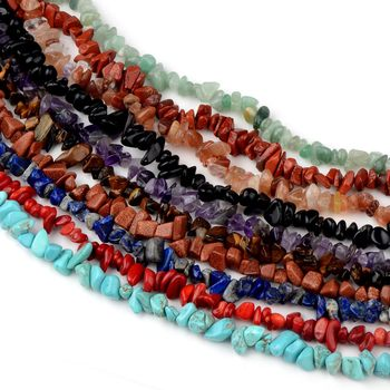 Бусины из натурального камня с кристаллом 5 8 мм, нестандартные гравийные бусины для самостоятельного изготовления ожерелий, браслетов, бижутерии, размером 16 дюймов Бусины      АлиЭкспресс