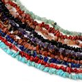 Бусины из натурального камня с кристаллом 5-8 мм, нестандартные гравийные бусины для самостоятельного изготовления ожерелий, браслетов, биж...