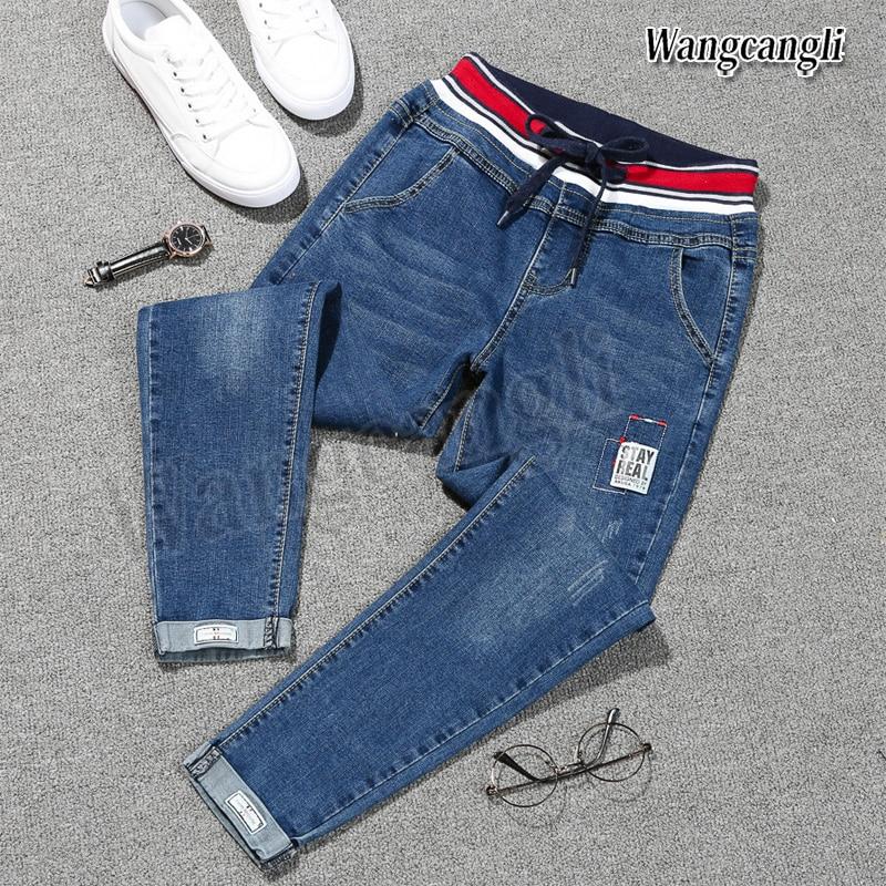 2019 Spring Summer Jeans Woman Plus Size 5XL Harem Haute Foreign Nine Point Denim Pants Women Casual Trousers Women Jean Femme