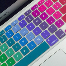"Zimoon colorful silicon keyboard cover laptop notebook kulit protector untuk 11 ""13"" 15 ""macbook air pro retina(China)"