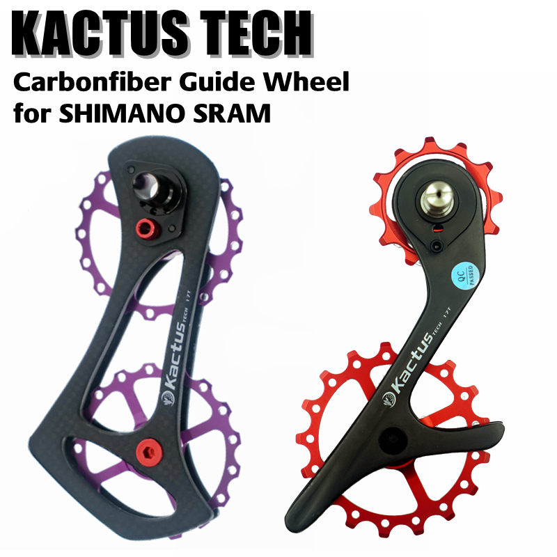 US $93 0 |17T Bicycle Ceramic Bearing Carbon fiber Jockey Pulley Wheel Set  Rear Derailleurs Guide Wheel for 105 / Ultegra / DURA ACE /SRAM-in Bicycle