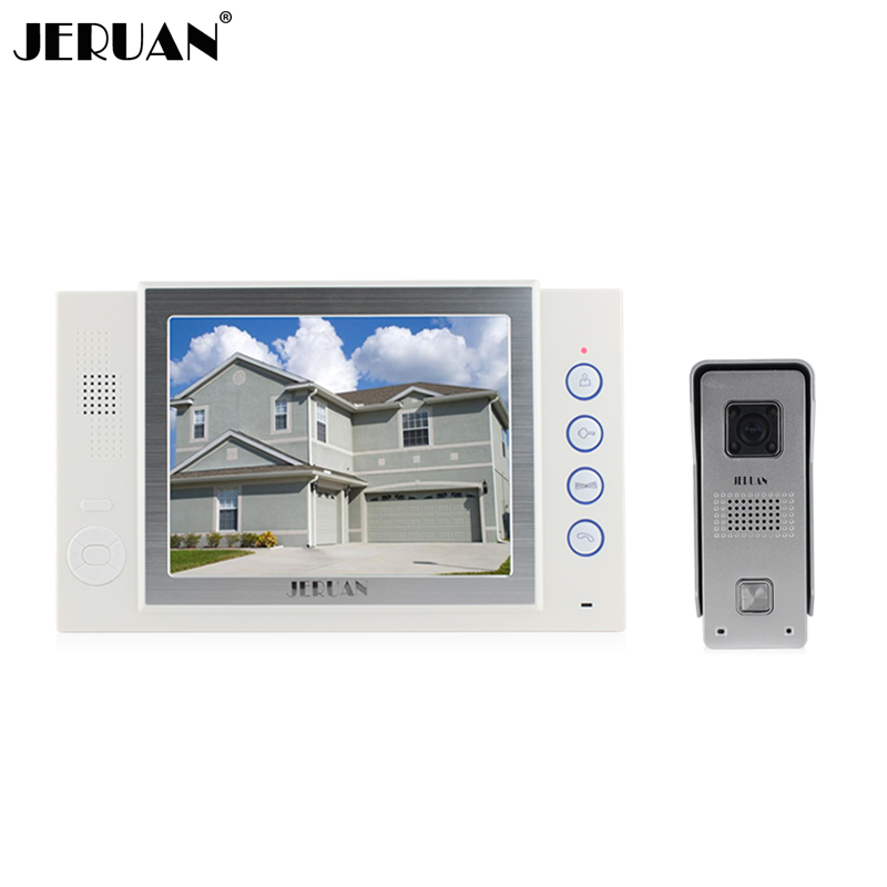 JERUAN  8`` video door phone doorbell intercom system video recoreding photo taking  video doorphone hands-free speaker intercom
