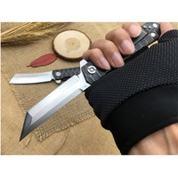 Neue outdoor klappmesser taktische selbstverteidigung Tasche messer hohe härte D2 stahl klapp messer Camping Jagd überleben werkzeuge|Messer|   -
