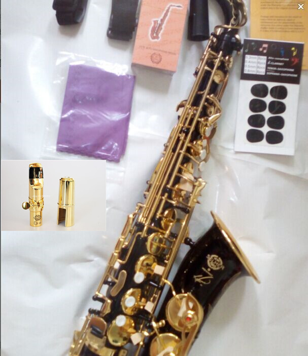 2016 Free NEW EMS DHL French Selmer 54 Eb Alto Saxophone Professional Black Gold  key Instrument Sax super And metal mouthpiece dhl ems 2 pcs 1pc for key ence sensor amplifier fs n18n new d1
