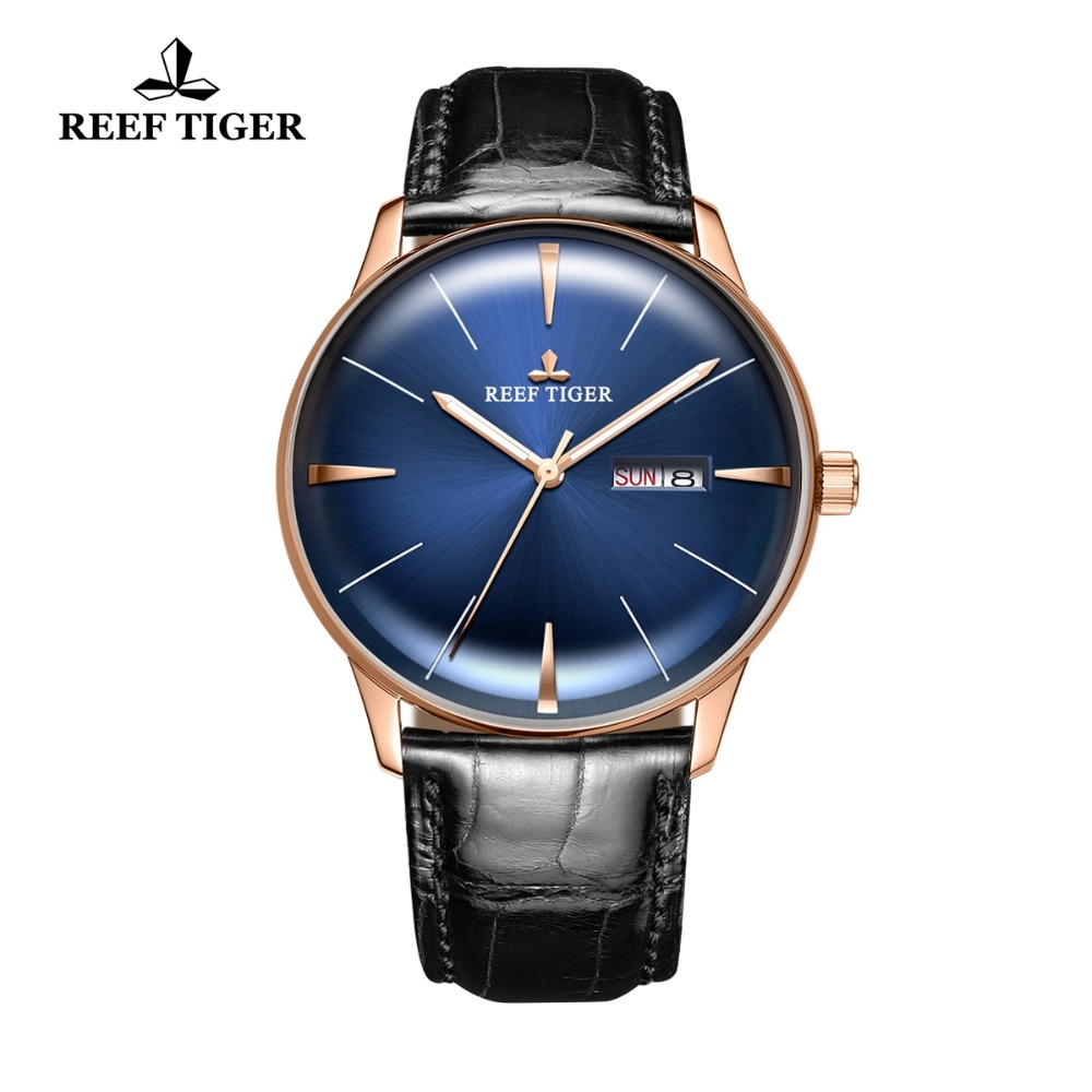New Reef Tiger/RT Mens Dress Watches with Date Day Convex Lens Watches Analog Automatic Watches RGA8238New Reef Tiger/RT Mens Dress Watches with Date Day Convex Lens Watches Analog Automatic Watches RGA8238