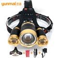 Farol Farol 6000 lumen zoomable lampe frontale pesca lanterna lanterna led xml t6 4 modos para camping pesca caça