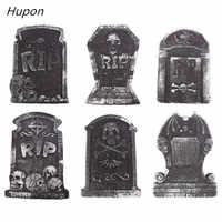 1 pieza de espuma de Halloween, lápida, esqueleto, lápida, casa embrujada, Bar, rasgado, piedra, accesorios, decoración de jardín, al azar