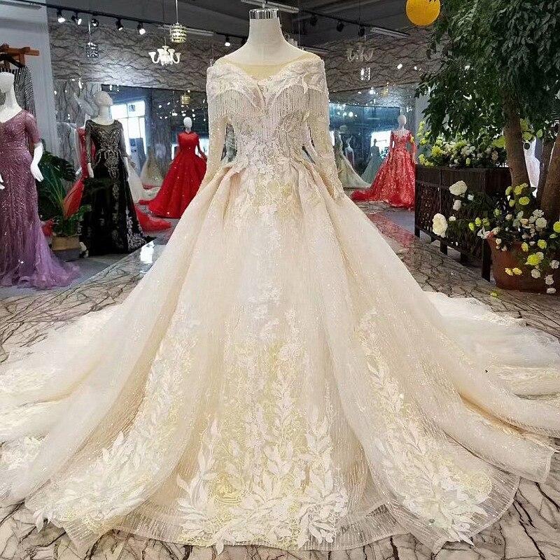 Vivian Wedding Gown: Vivian's Bridal 2018 High End Crystal Tassel Ball Gown