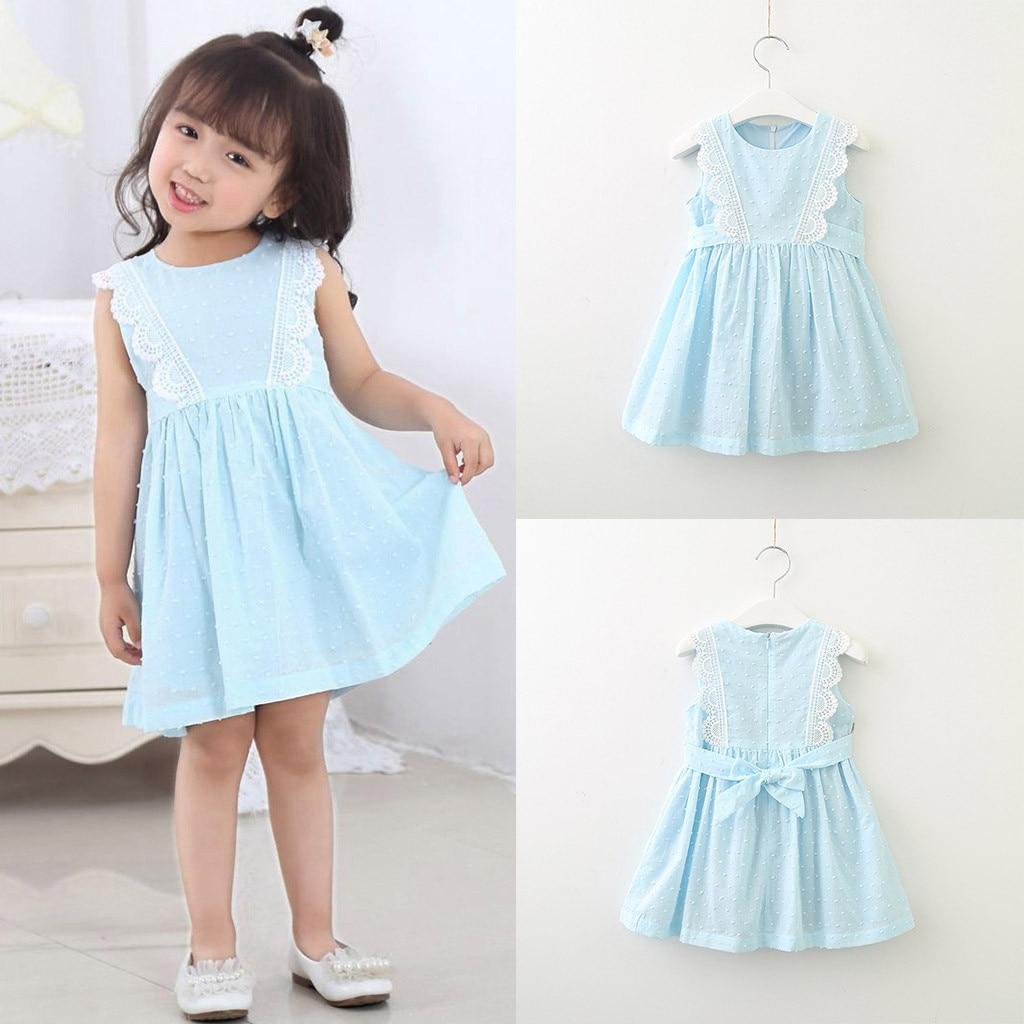 MUQGEW teenage girls clothing dresses Girls Lace Sleeveless Vest Princess Dress vestiti bambina erkek cocuk giyimy2