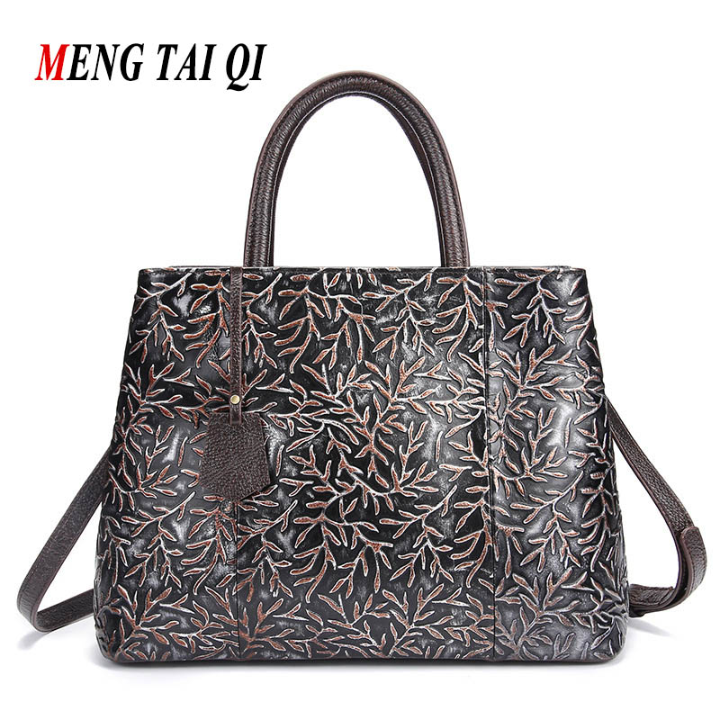 Women Bag Luxury Brand Leather Genuine Shoulder Bags Ladies Handbags Vintage Large Capacity Top-Handle Bags 2017 Famous Brand 4
