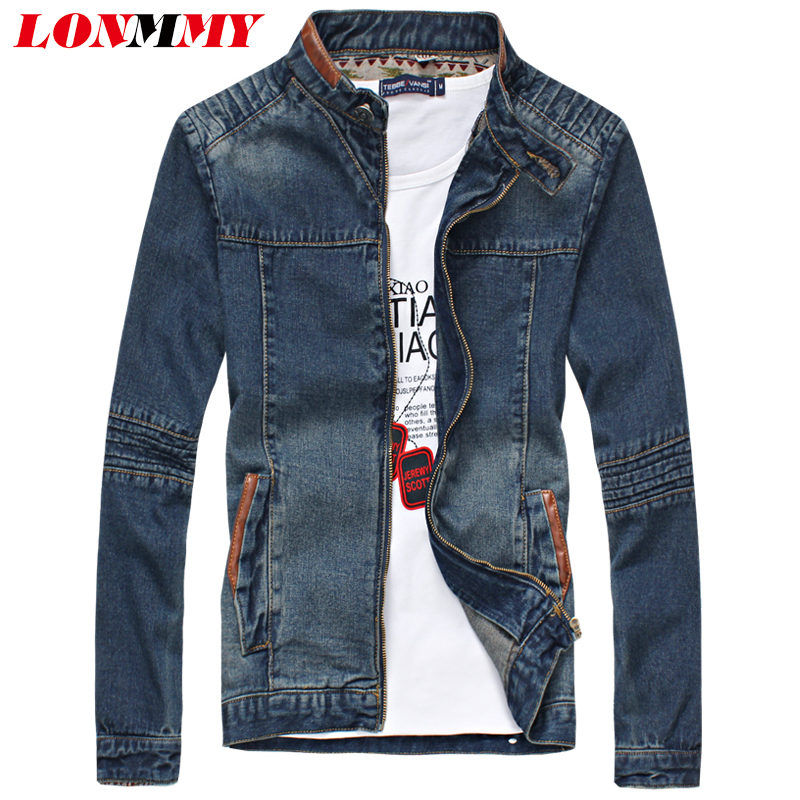 Slim Fit Denim Jacket Mens