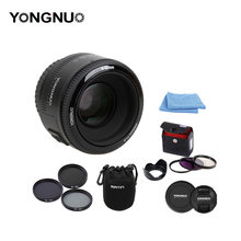 100% authentic YongNuo YN 50MM F1.8 Large Aperture Auto Focus Lens For Canon EF Mount EOS Camer+Lens cleaning pen(China)