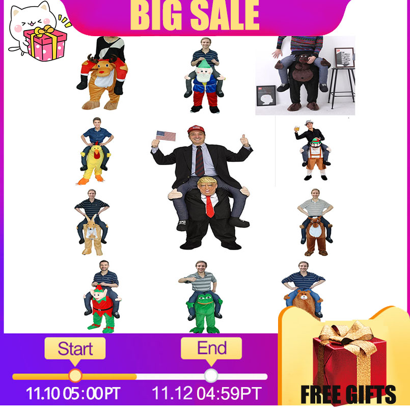 Funny Cosplay Donald Trump Christmas Halloween Party Horse Ride Clothes Novelty Carry Back Outdoor Toys Gift For Grownups dongzhur new funny donald trump rider costume inflatable costumes for adults women men halloween carnaval party cosplay awe3686