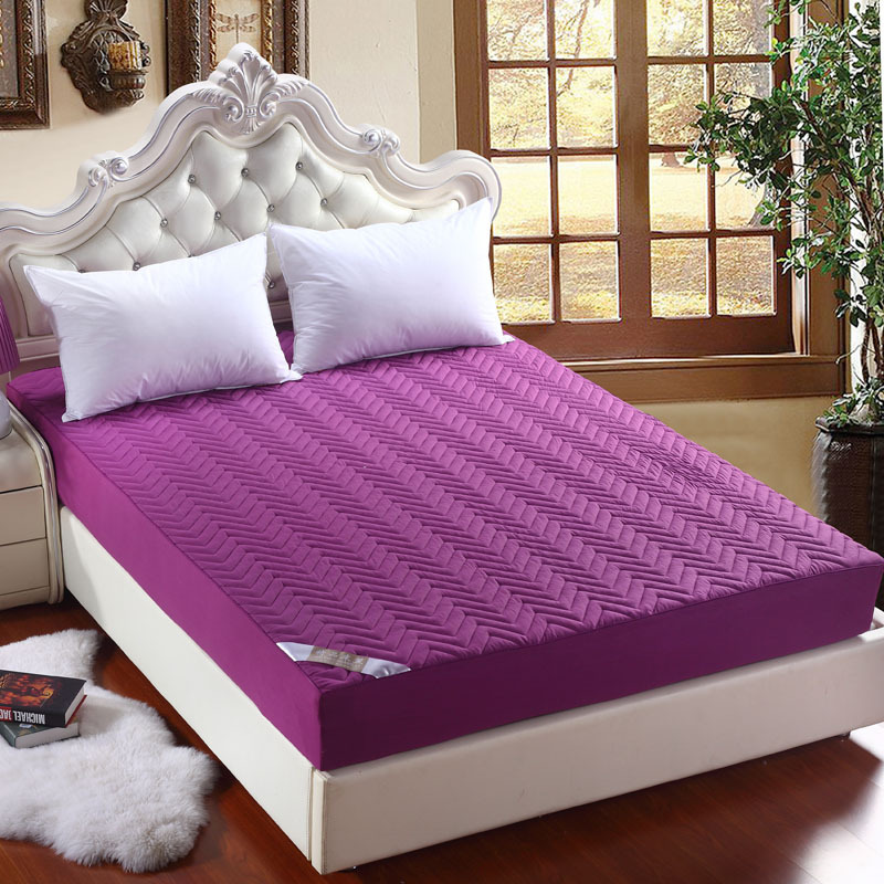Solid Color Mattress Cover Pad Protector Sueding Cotton