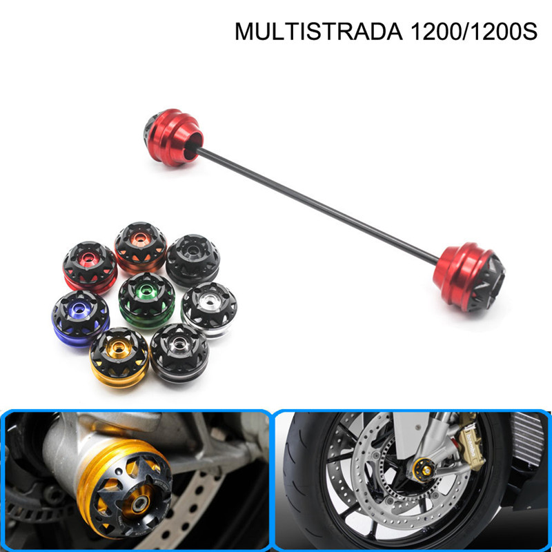 Free shipping for Ducati MULTISTRADA 1200/1200S 2010-2015 CNC Modified Motorcycle Front wheel drop ball / shock absorber free delivery for ducati monster s4r 2003 2008 cnc modified motorcycle drop ball shock absorber